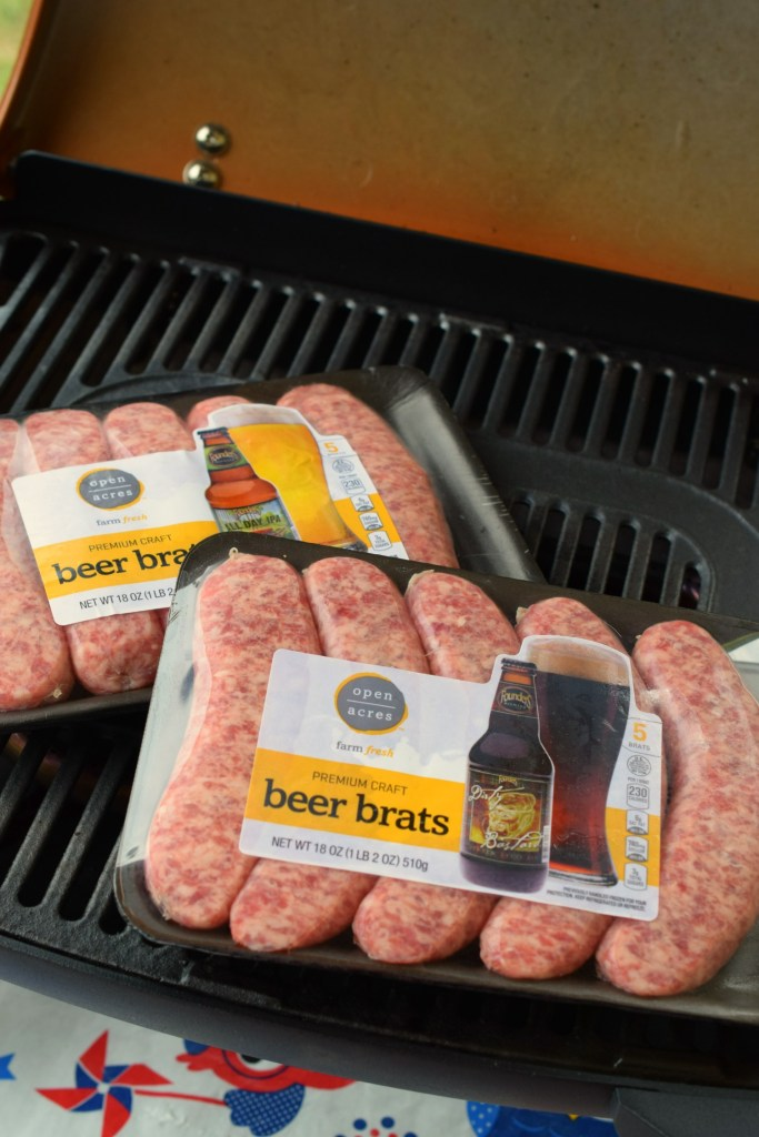 Fire up your grill! Next time you are camping or grilling whip up these easy Brat & Veggie Foil Packet mealls. Simple to make, you'll love the flavors!