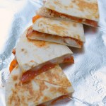 Rotisserie Chicken Pizza Quesadillas