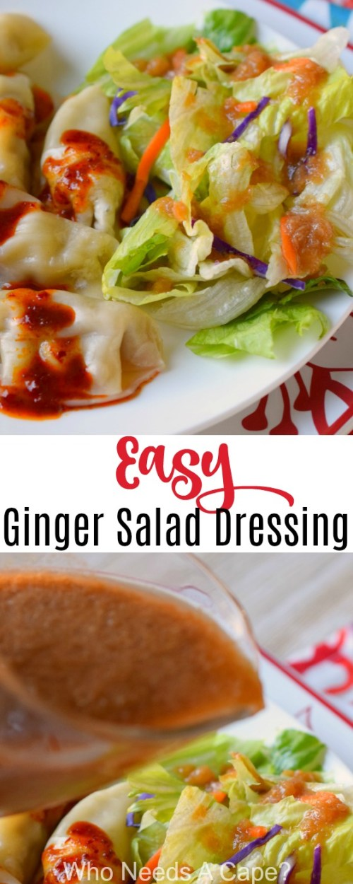 Here's a great copycat recipe for Easy Ginger Salad Dressing. My family loves this dressing at restaurants, now I'm making it at home. Such a simple recipe!