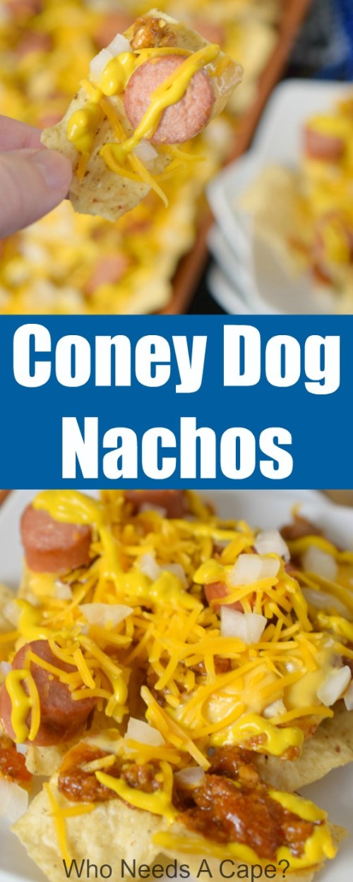 Gameday feasting just got better with Coney Dog Nachos! A twist on a favorite Detroit area food made even better as nachos, simple and delicious!