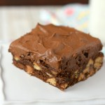 Frosted Peanut Butter Chip Brownies