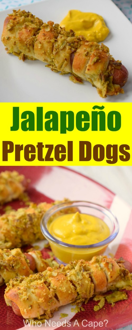 Jalapeño Pretzel Dogs are the perfect addition to your game day feasts! You'll score the winning goal with these easy to make favorites!
