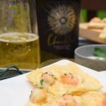 Grilled Shrimp Alfredo Flatbread