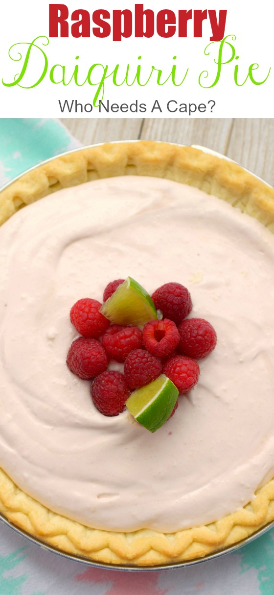 Raspberry Daiquiri Pie brings the best of dessert and a cocktail to your plate! Fruity, boozy, creamy and so easy to make! You'll love this treat!