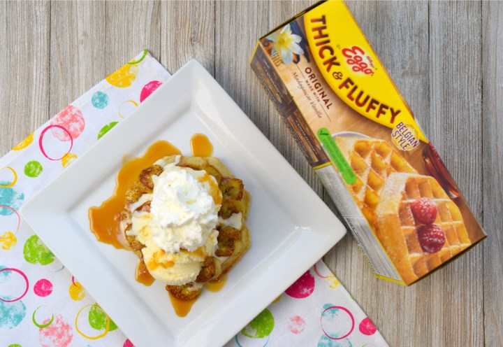 Get ready to take dessert to the next delicious level with Bananas Foster Dessert Waffles! Easy to make, you'll love this decadent treat.