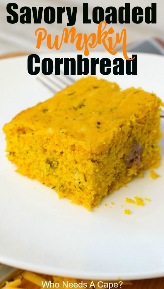 Savory Loaded Pumpkin Cornbread