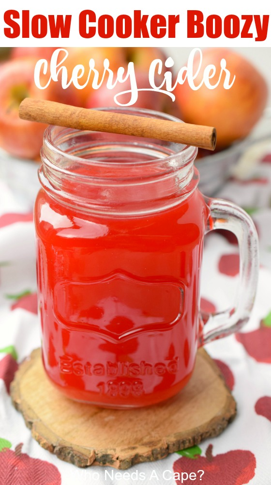 Slow Cooker Boozy Cherry Cider