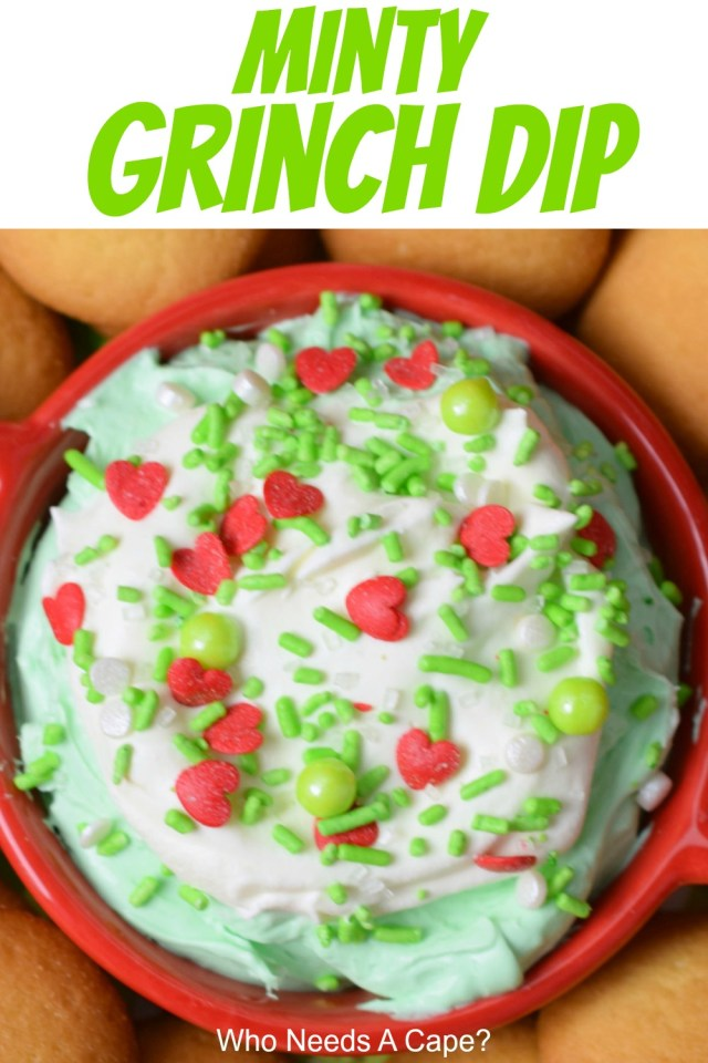 Minty Grinch Dip is a fun addition to holiday menus. Easy to make, this mint flavored dessert dip is great for Christmas and all year long.