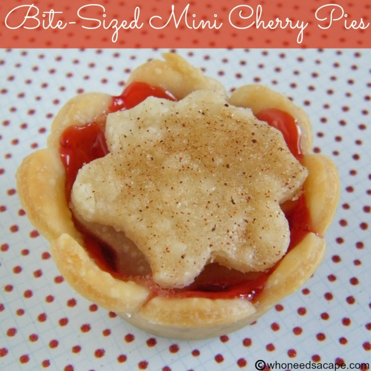 Bite-Sized Mini Cherry Pies