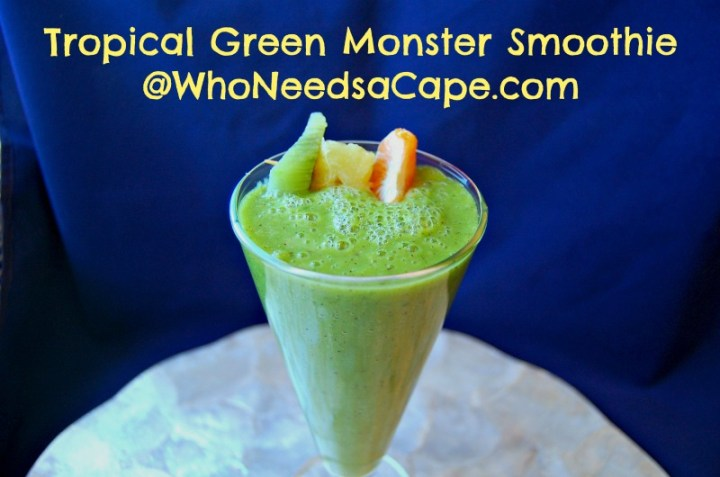 Tropical Green Monster Smoothie