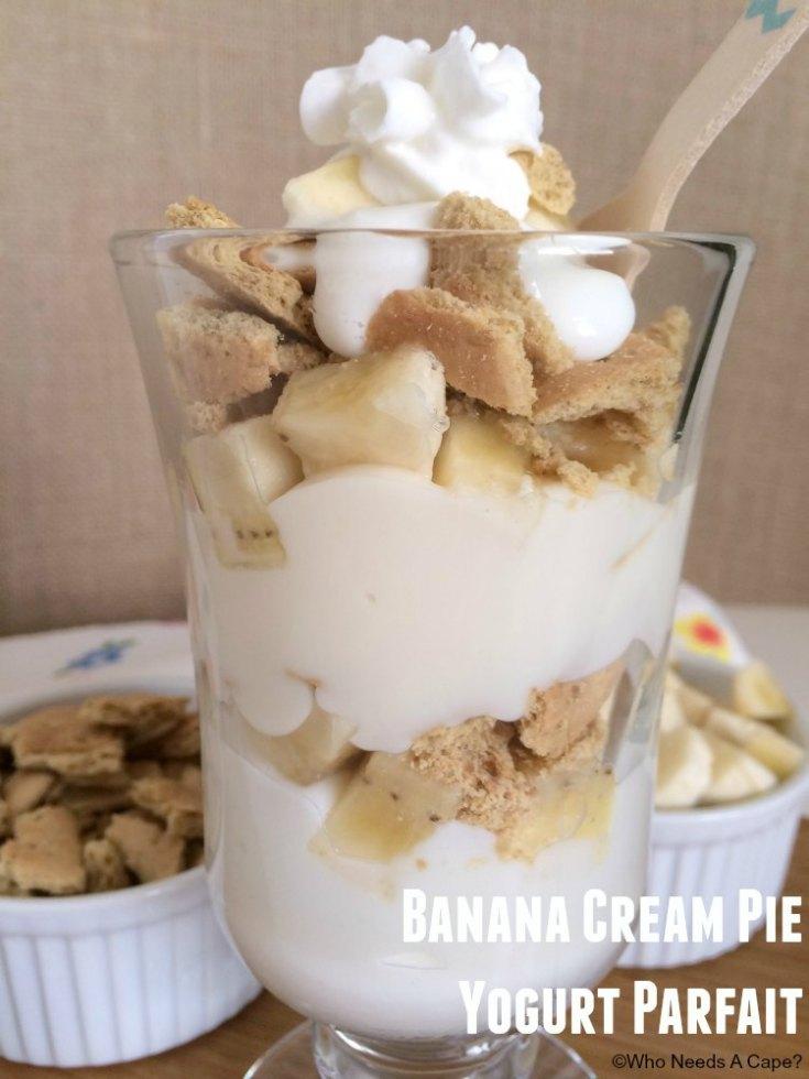 Banana Cream Pie Yogurt Parfait