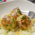 Cajun Chicken Meatballs in Cajun Cream Sauce
