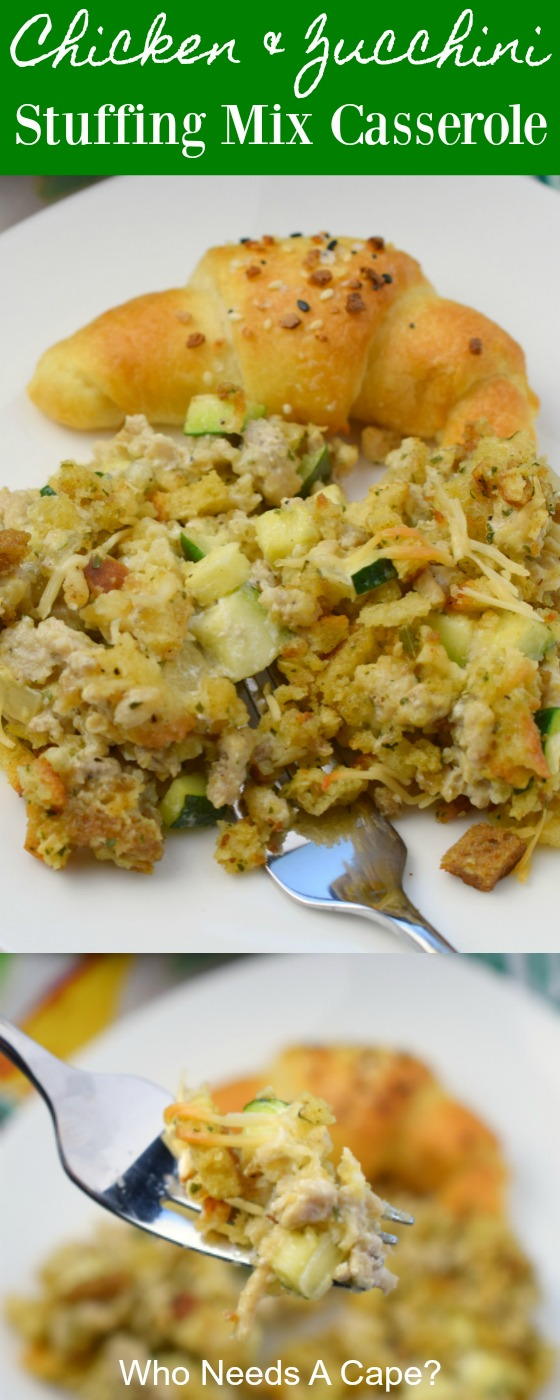 Chicken & Zucchini Stuffing Mix Casserole is a budget friendly dinner with delicious flavors. Easy to prepare, this comforting dish is family friendly.