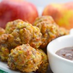 Savory Apple Sausage Balls #AppleWeek
