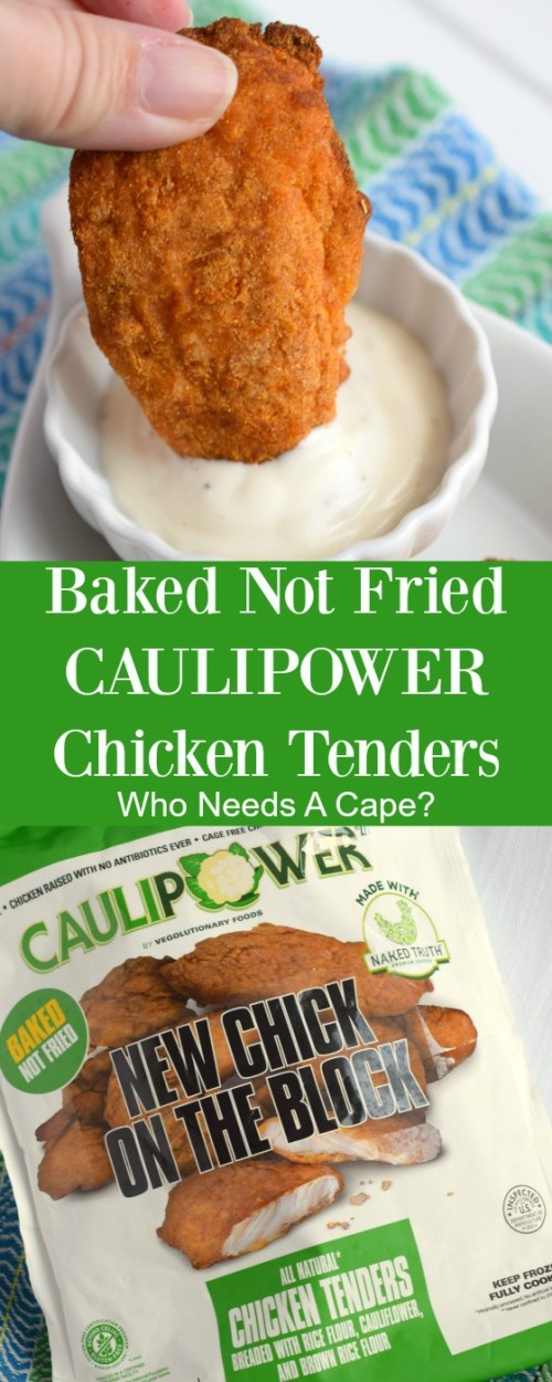 Try the only baked not fried chicken tender in the freezer aisle. CAULIPOWER Chicken Tenders are tasty, juicy and make a great dinnertime addition.