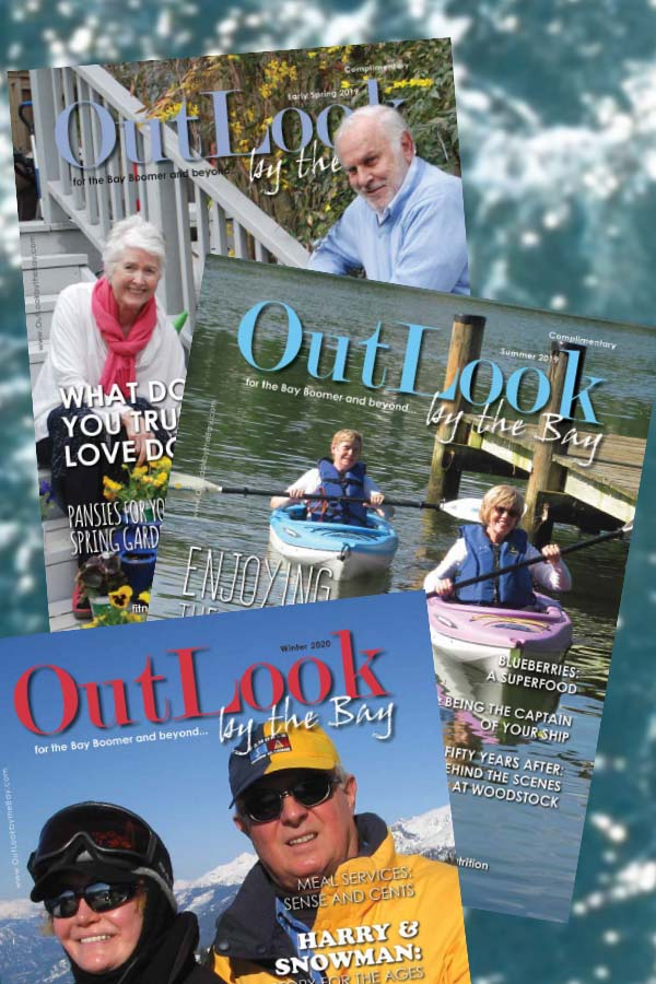 Covers of OutLook by the Bay magazine.