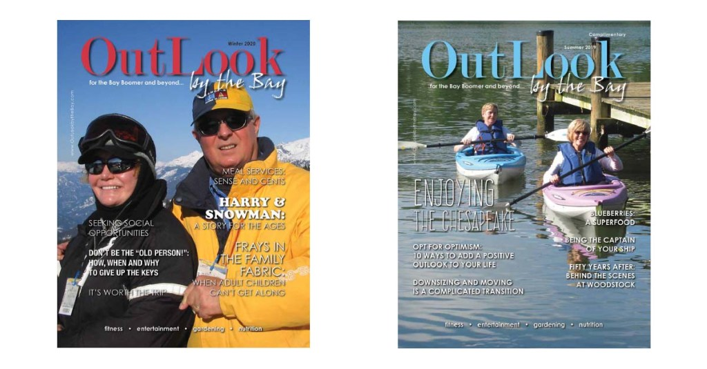 Two covers from OutLook by the Bay magazine