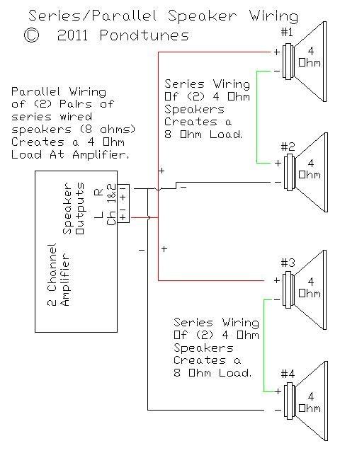 Wiring 3 4 Ohm Speakers - Schematics Online on