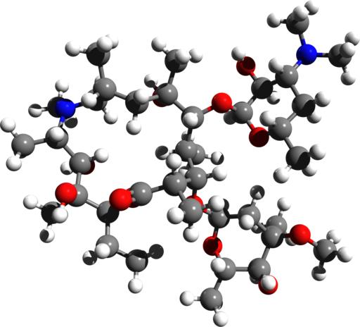 three dimensional model of Azithromycin