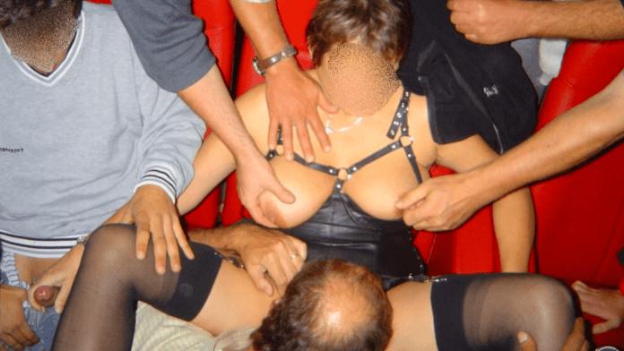 Porn theater sex BBW gangbang