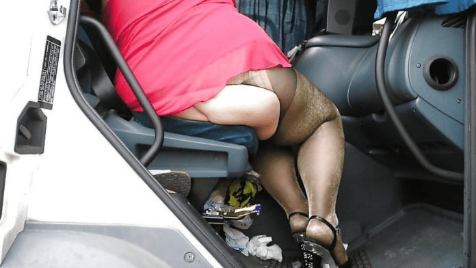 Truck stop hooker porn after sex with a lot lizard