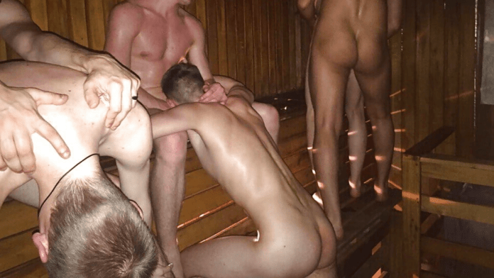 What happens at bathhouses for gay men?