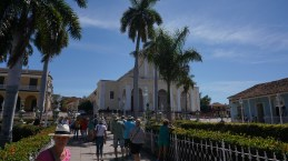 "Iglesia de la Santísima with the famous statue ""Lord of the True Cross"""