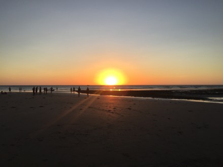 Te sun setting over Jeri beach