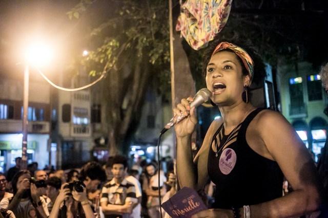 Marielle Franco speaking in 2016