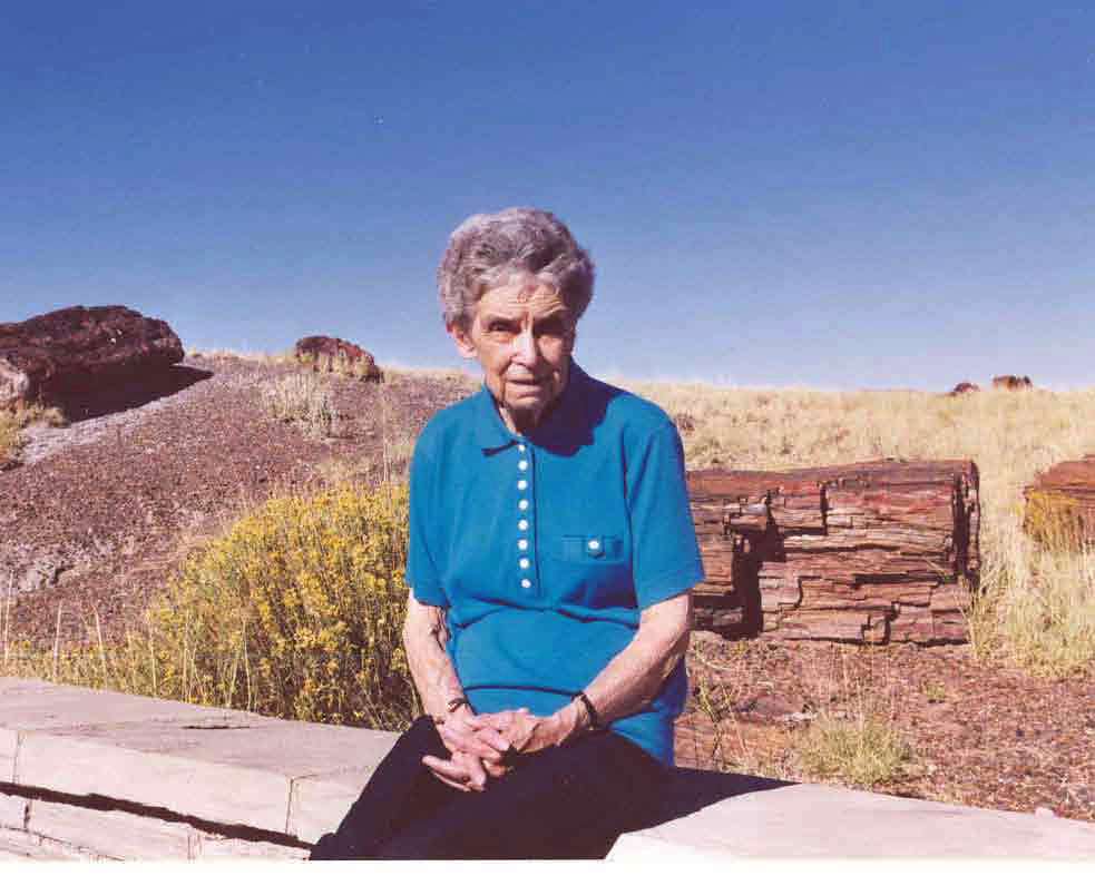 Mom at Petrified Forest in 1998