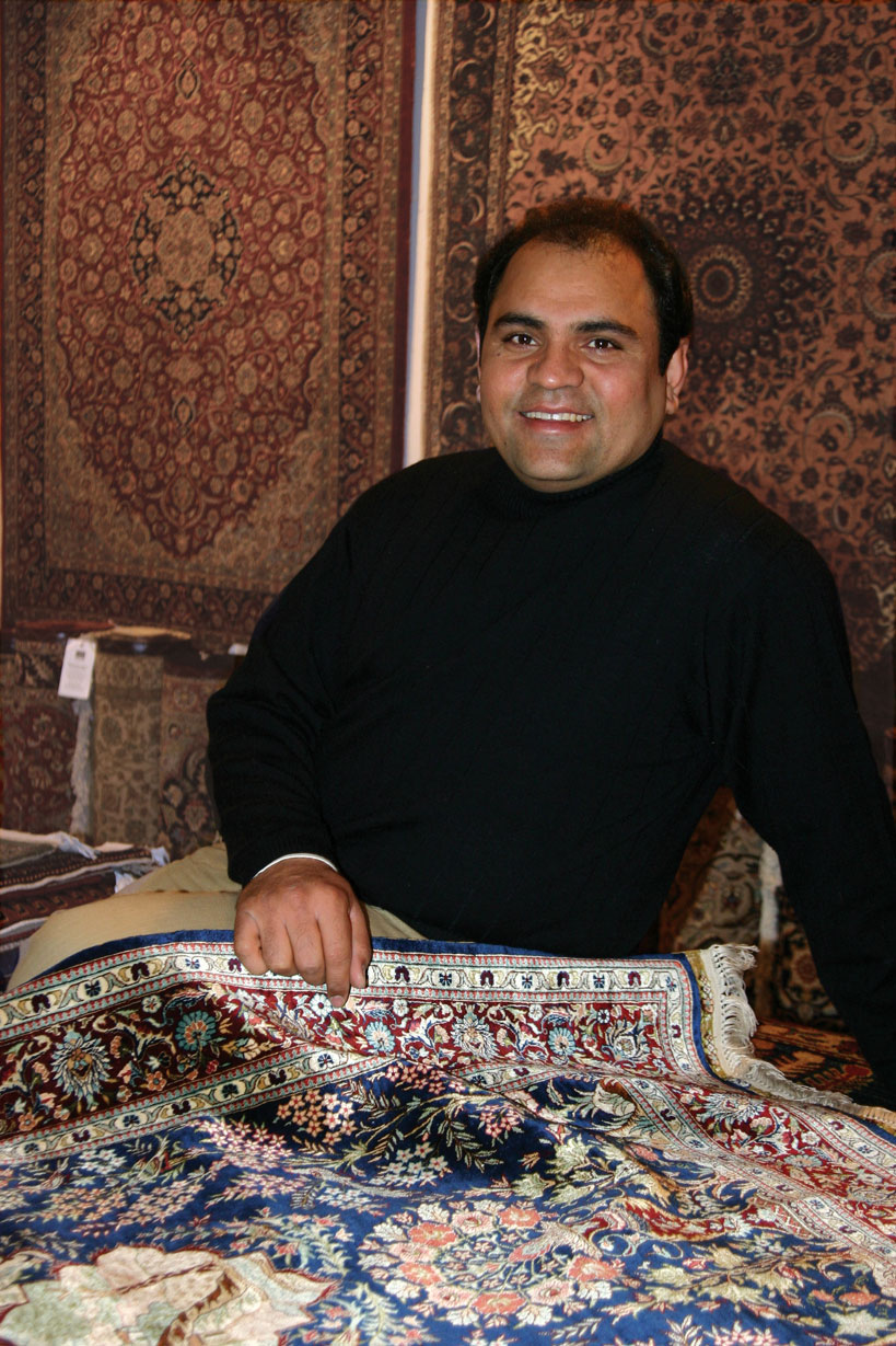 Yousaf Chaman talks about Oriental rugs and fair trade.