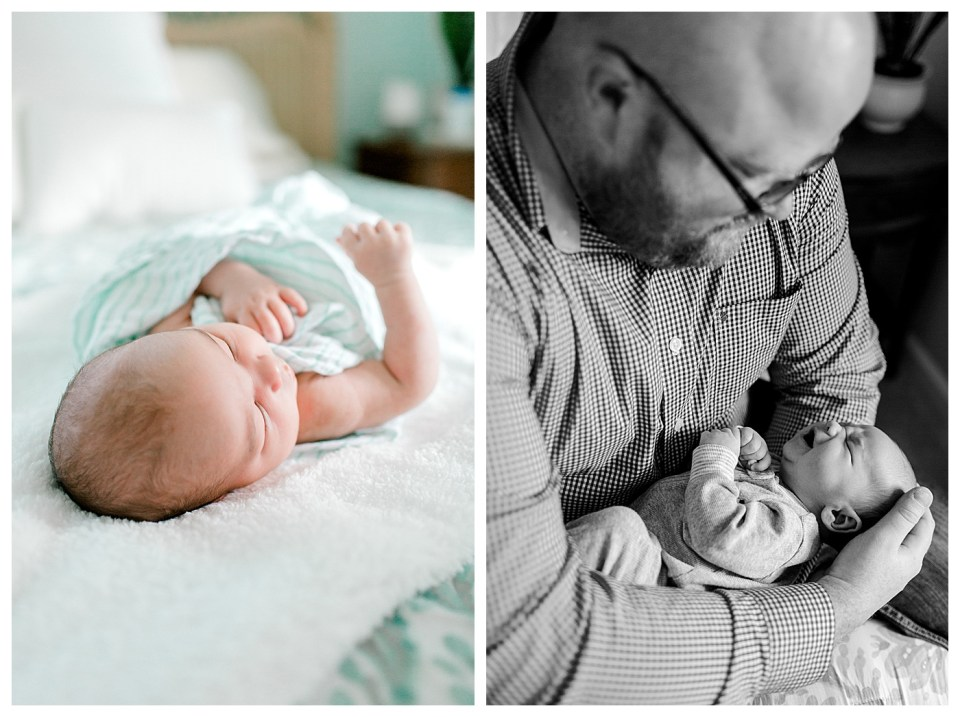 in home newborn session virginia beach