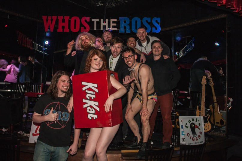 Who's the Ross - Kit Kat Club group photo feat Trimp & Stag PDX Male Dancer