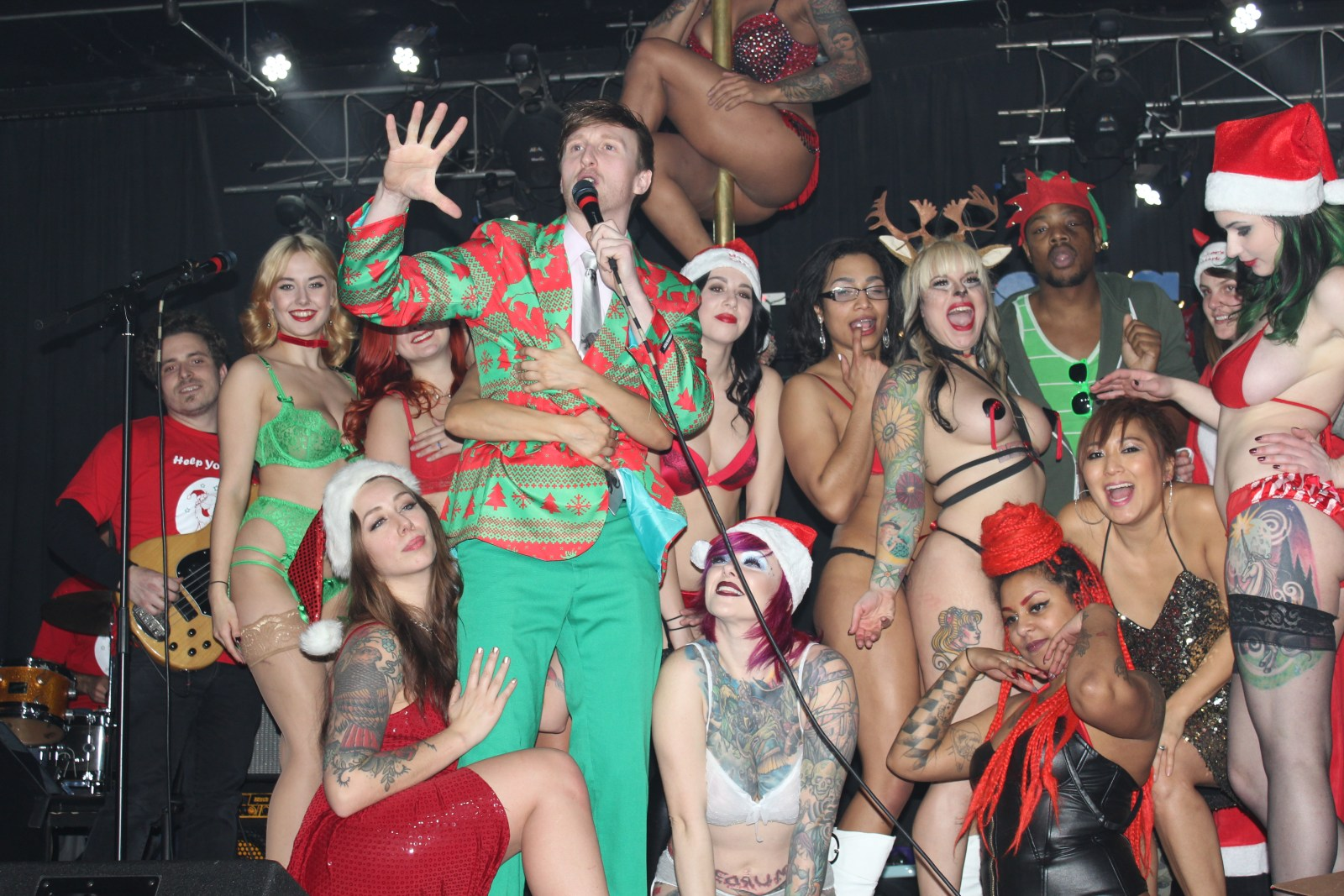 """""""Who's the Ross?"""" """"Tatas for Toys"""" 2015 comedy comedian strippers stripper benefit Xmas Christmas """"Aaron Ross"""""""