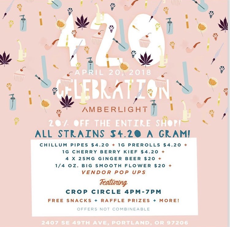 Amberlight Cannabis special 420 4/20 4:20 weed marijuana pot green smoke