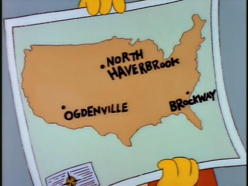 Simpsons map