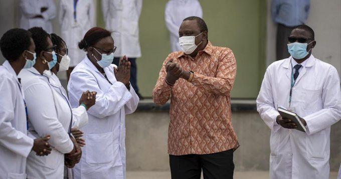 Kenyan President Visits The Nairobi National Vaccine