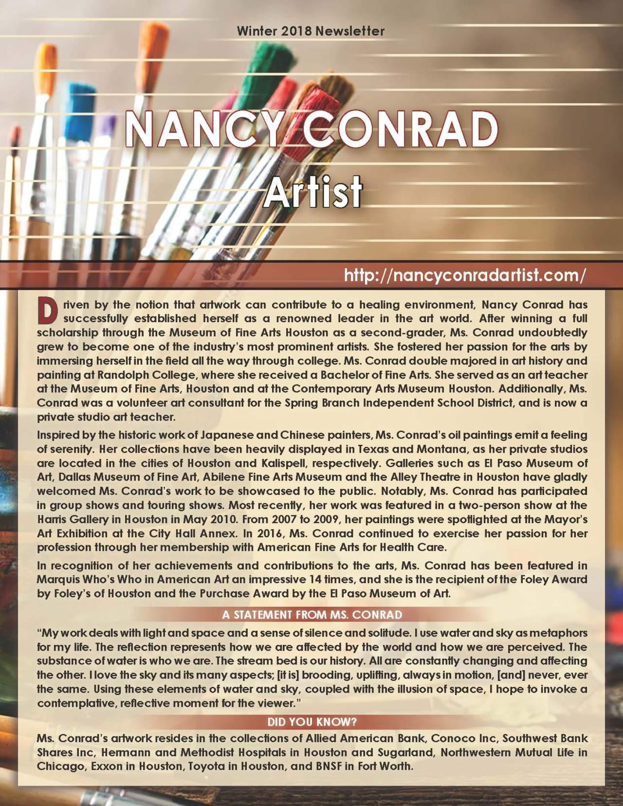 Conrad, Nancy 2186495_101546 Newsletter REVISED