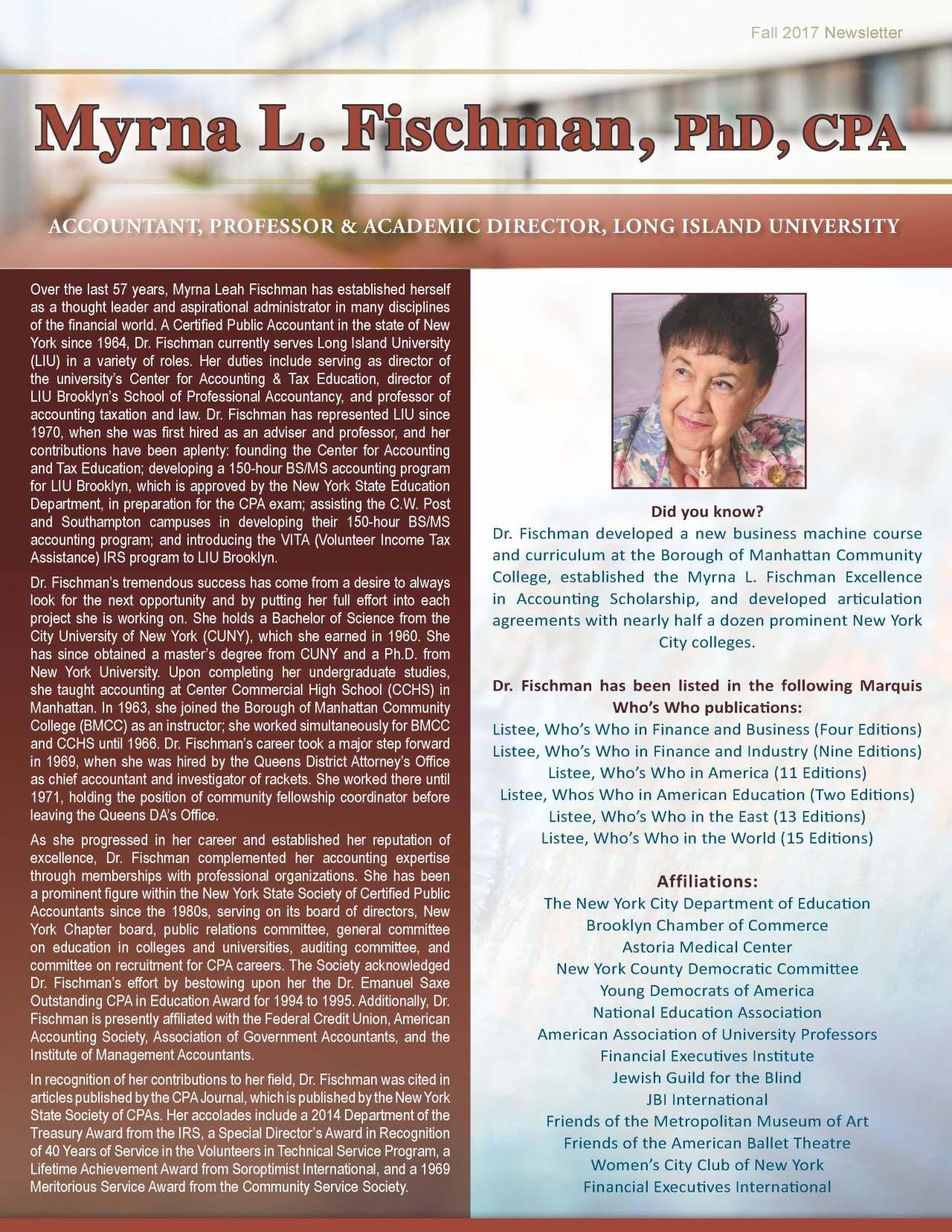 Fischman, Myrna 2132049_51905 Newsletter
