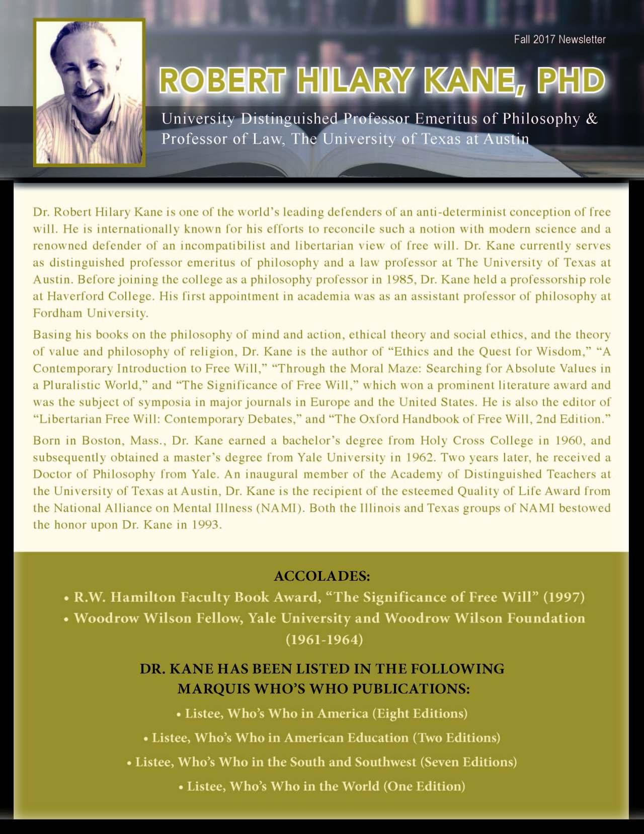 Kane, Robert 3680540_28193655 Newsletter