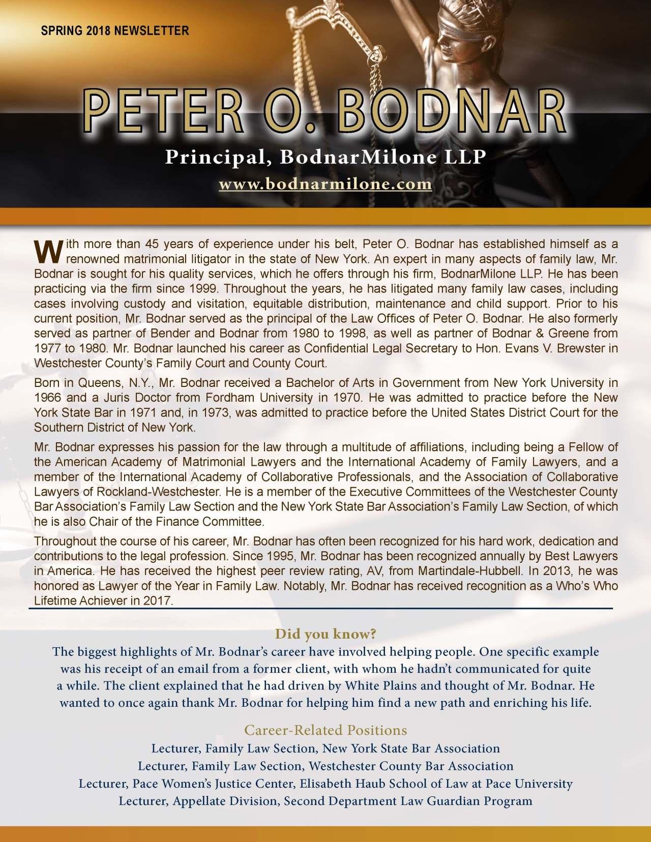 Bodnar, Peter 3679359_22889380 Newsletter REVISED