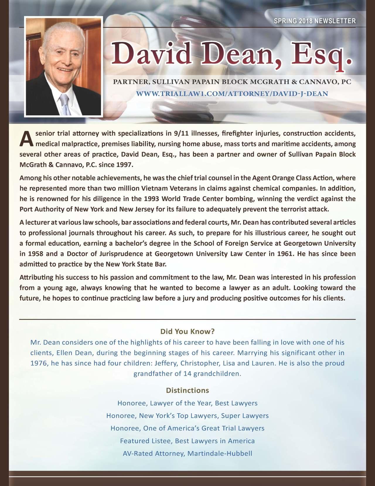 Dean, David 3710070_4003710070 Newsletter