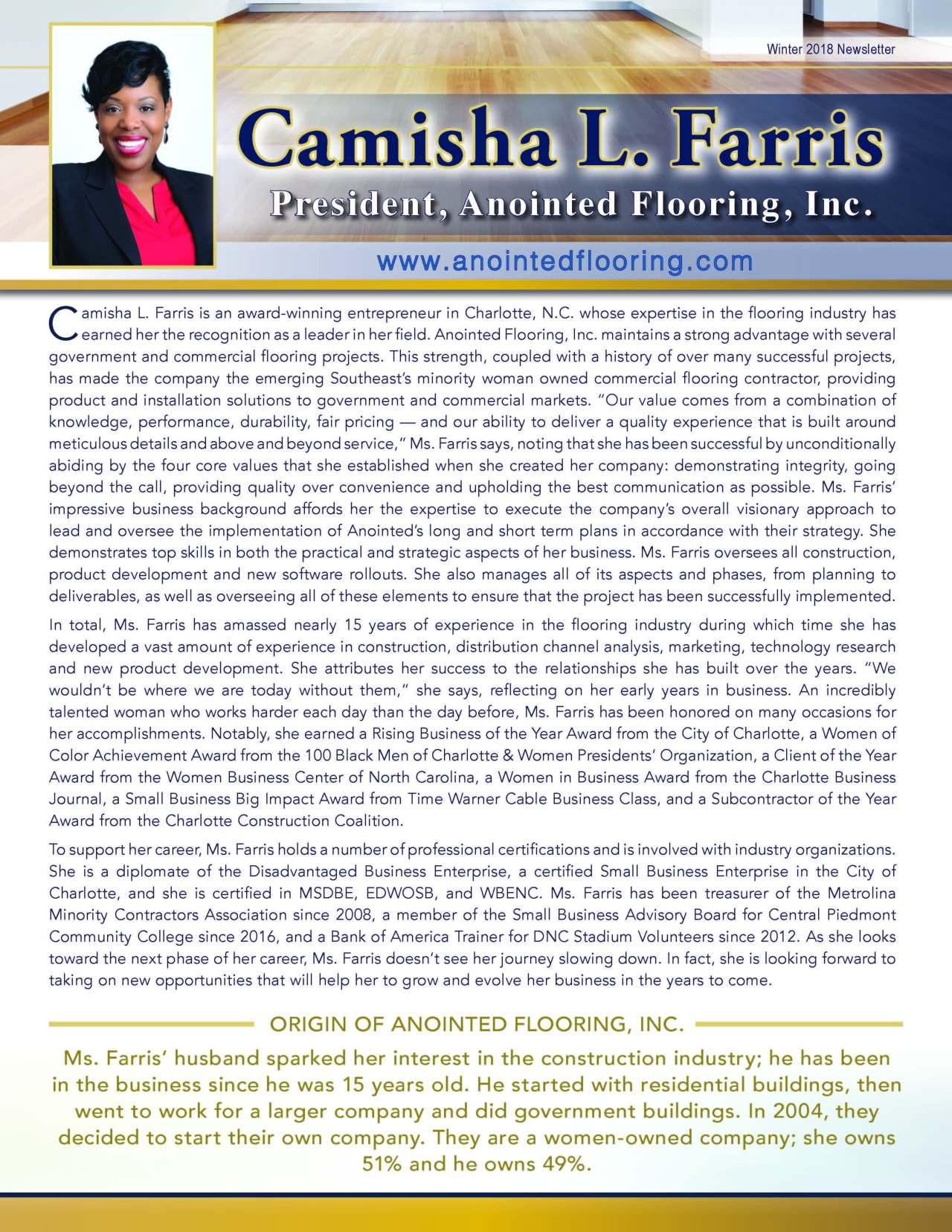Farris, Camisha 3703002_4003703002 Newsletter