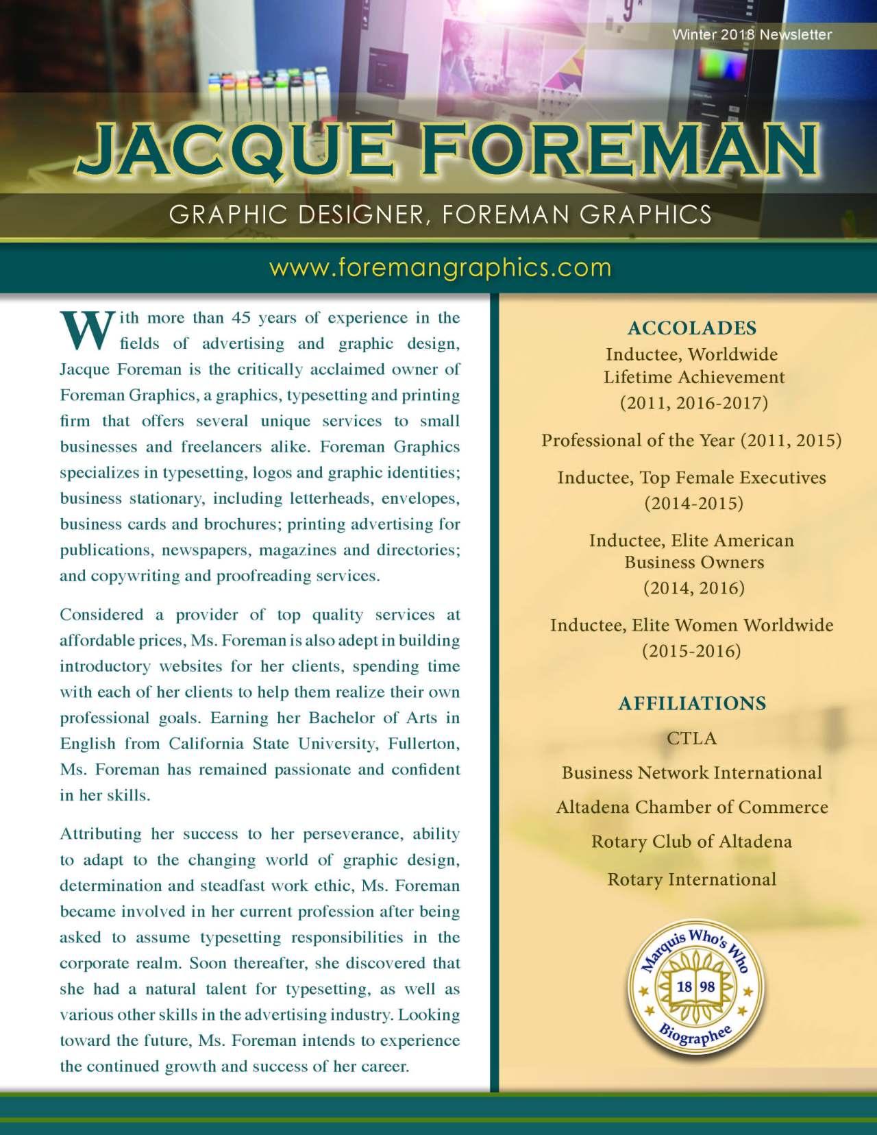 Foreman, Jacque 1480712_40004359 Newsletter