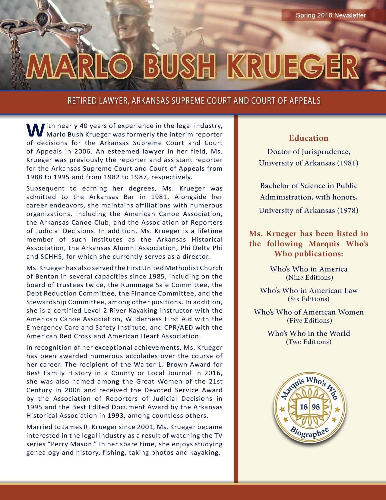 Krueger, Marlo 3713534_30713313 Newsletter REVISED