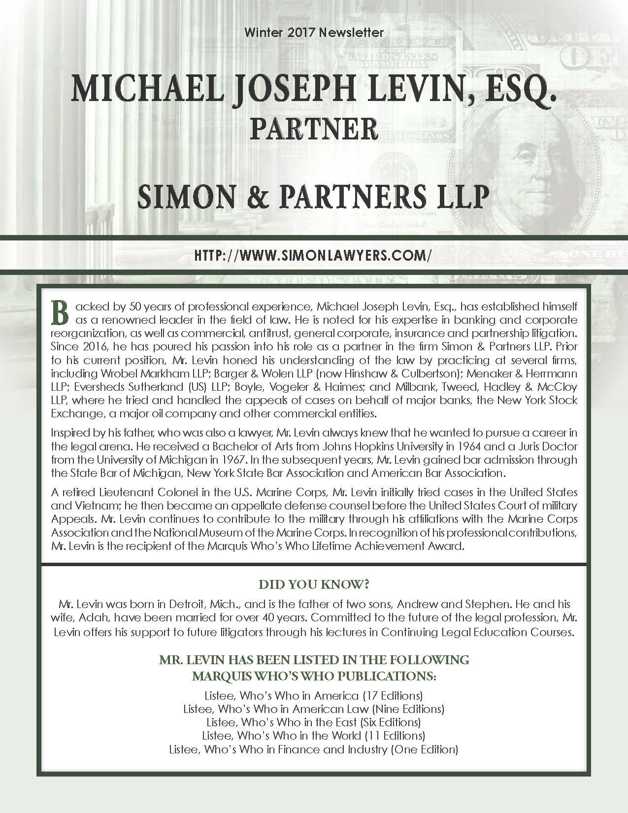 Levin, Michael 3707638_5479150 Newsletter.jpg