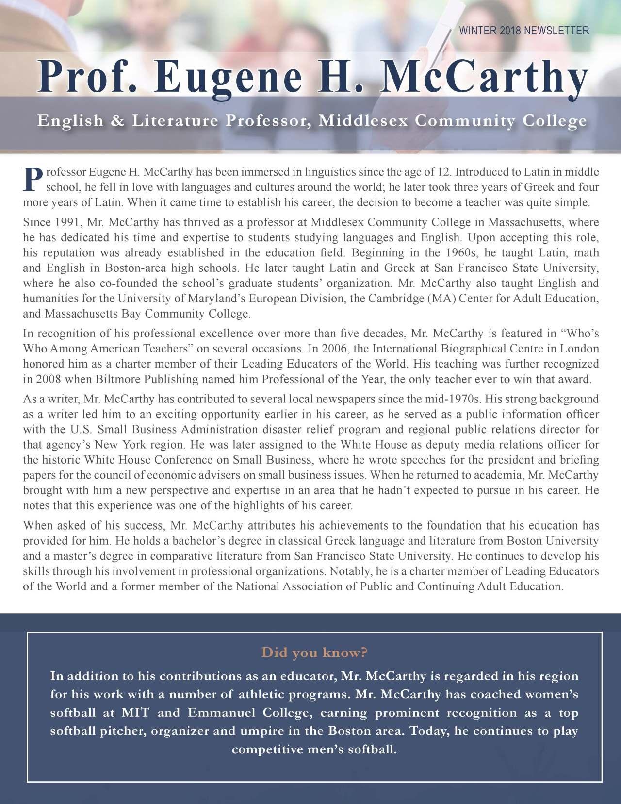 McCarthy, Eugene 3697985_4003697985 Newsletter.jpg