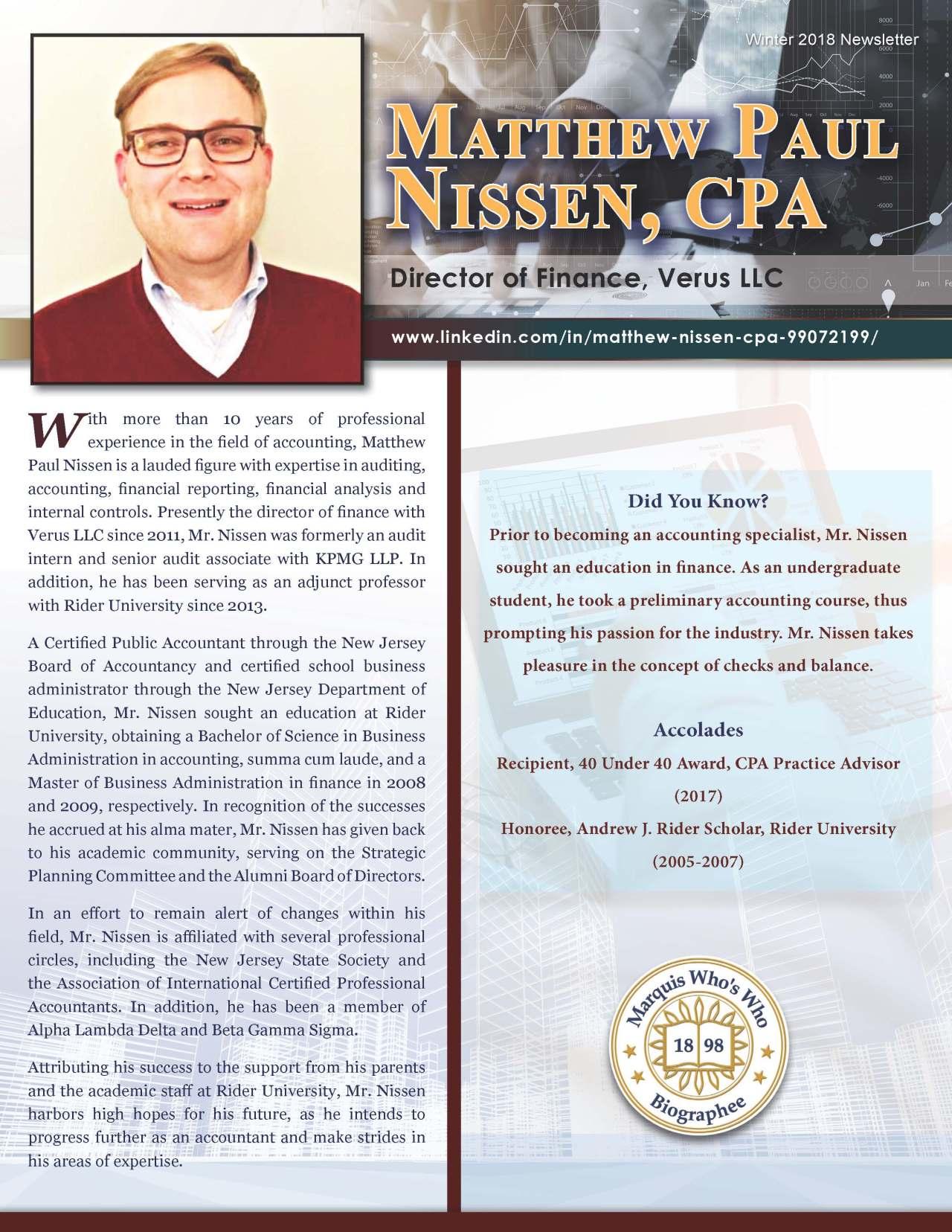 Nissen, Matthew 3702242_4003702242 Newsletter