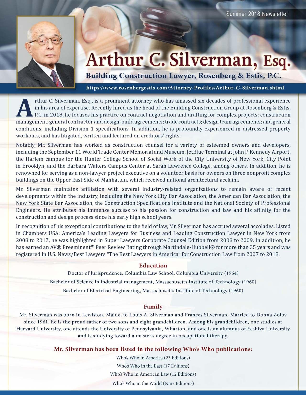 Silverman, Arthur 3673837_3047051 Newsletter