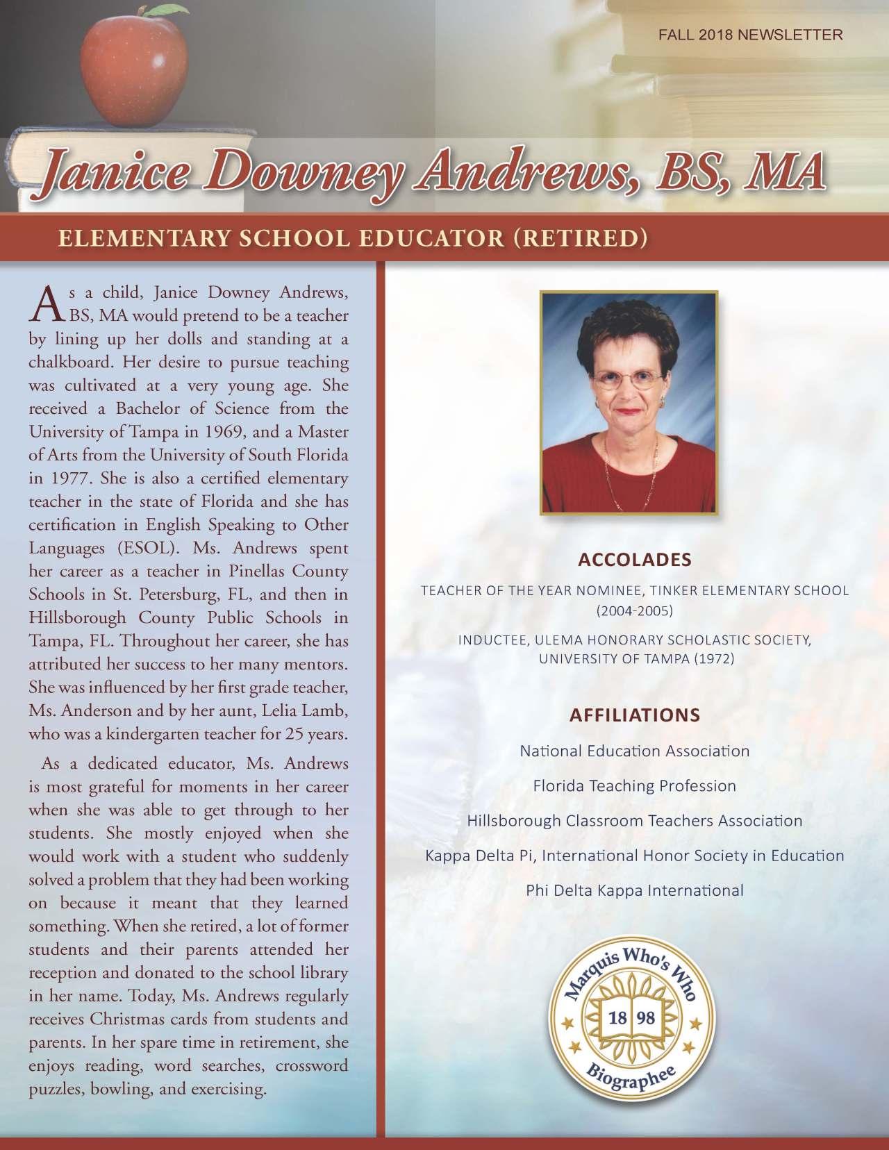 Andrews, Janice 3967276_19629674 Newsletter